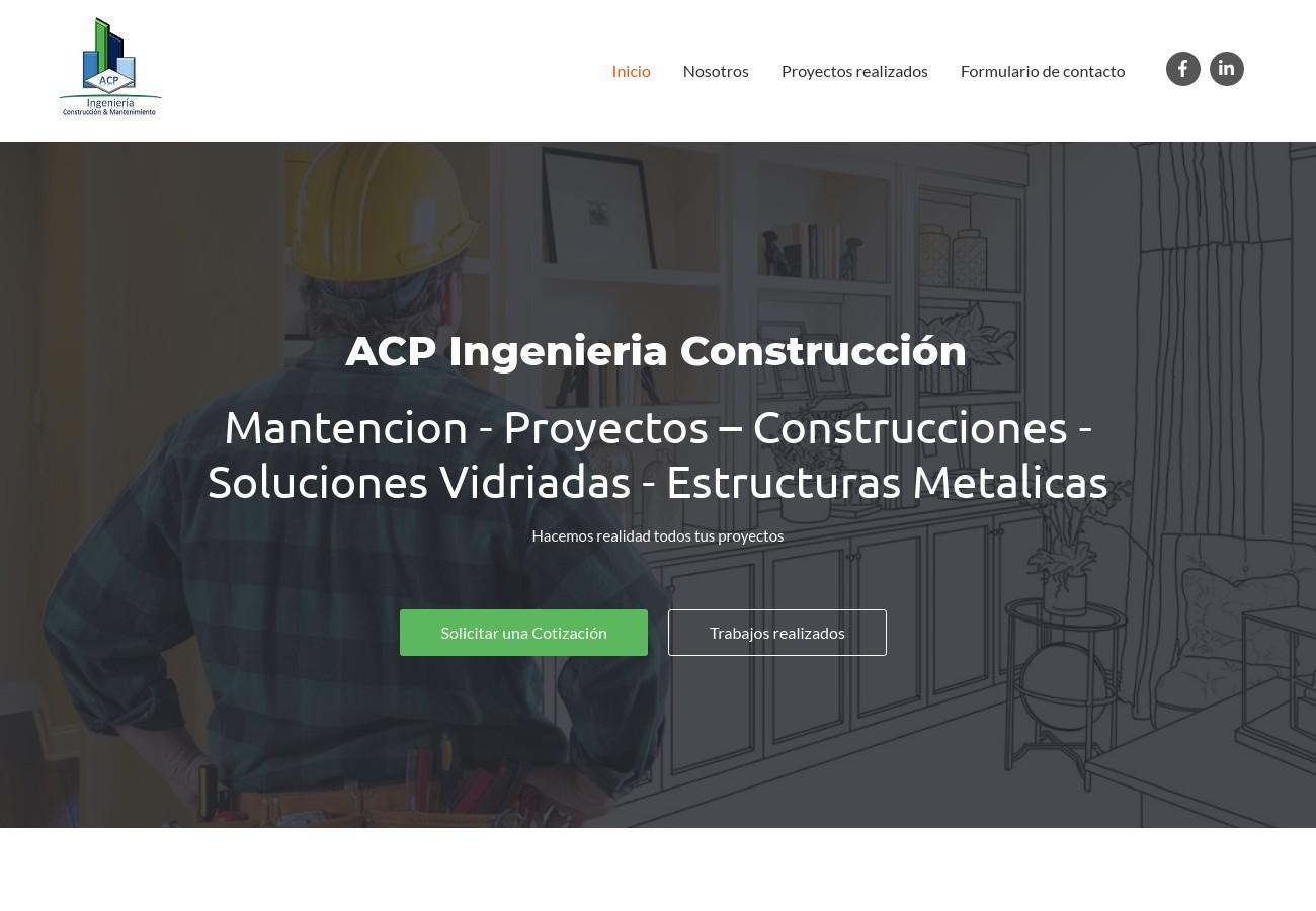 ACP ingenieria _ ▷ Instalaciones y Mantenimiento industrial _ Servicio de Construccion en Chile